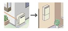 画像:据置→壁掛タイプ