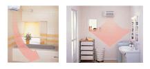 画像:室内機2台(浴室・脱衣所)