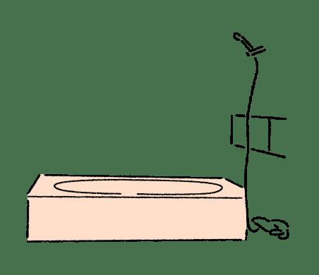お風呂の⼩さなリフォーム