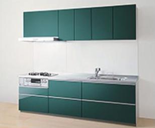 画像:TOTO システムキッチン ミッテ I型 食洗機付 2550mm 2段引出しプラン グループ1