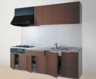 画像:TOTO システムキッチン ミッテ I型 2550mm 開き戸プラン グループ1
